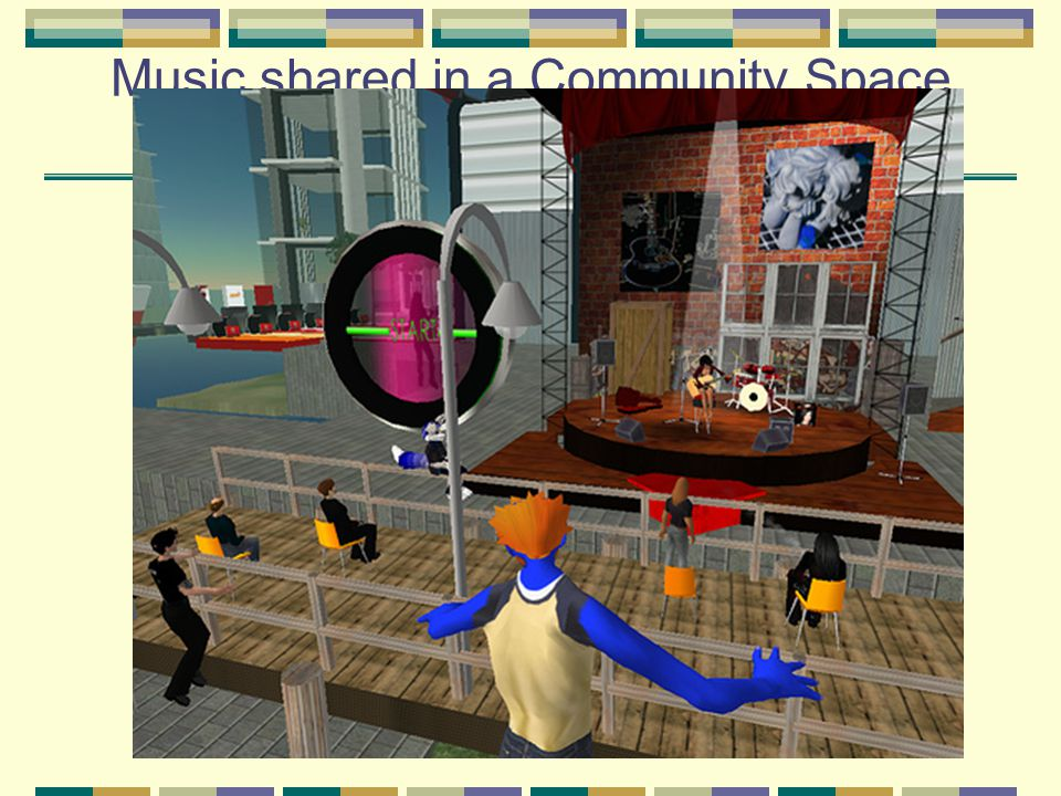 Music shared in a Community Space