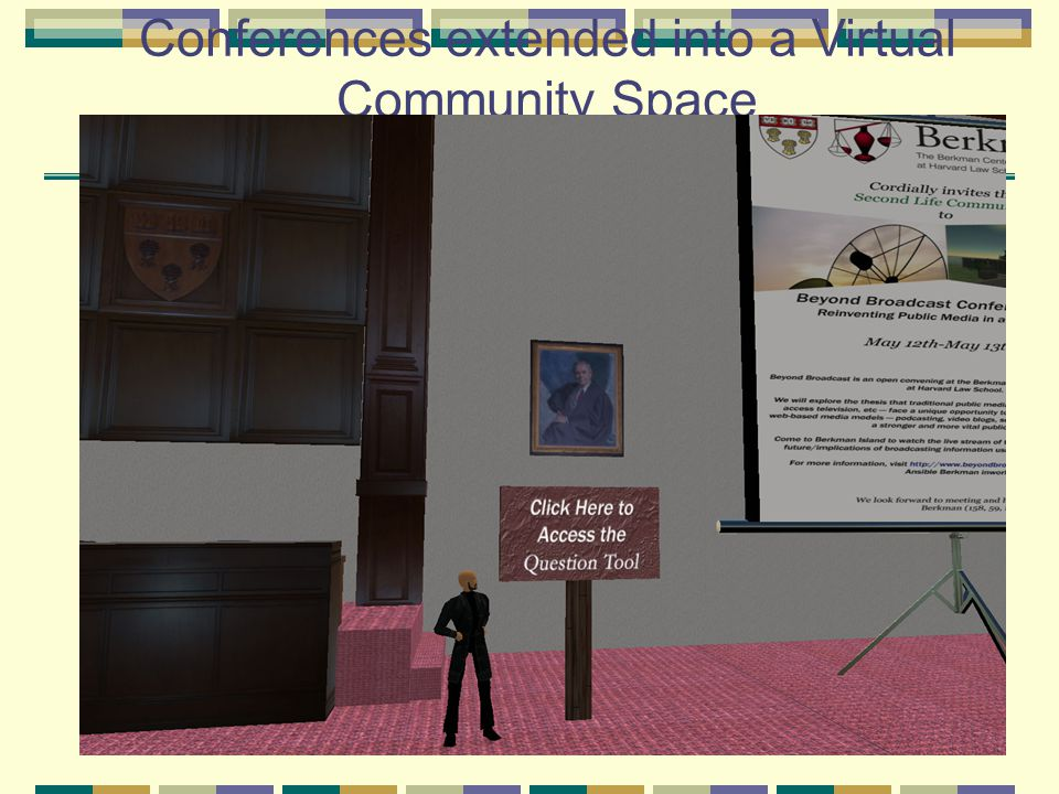 Conferences extended into a Virtual Community Space