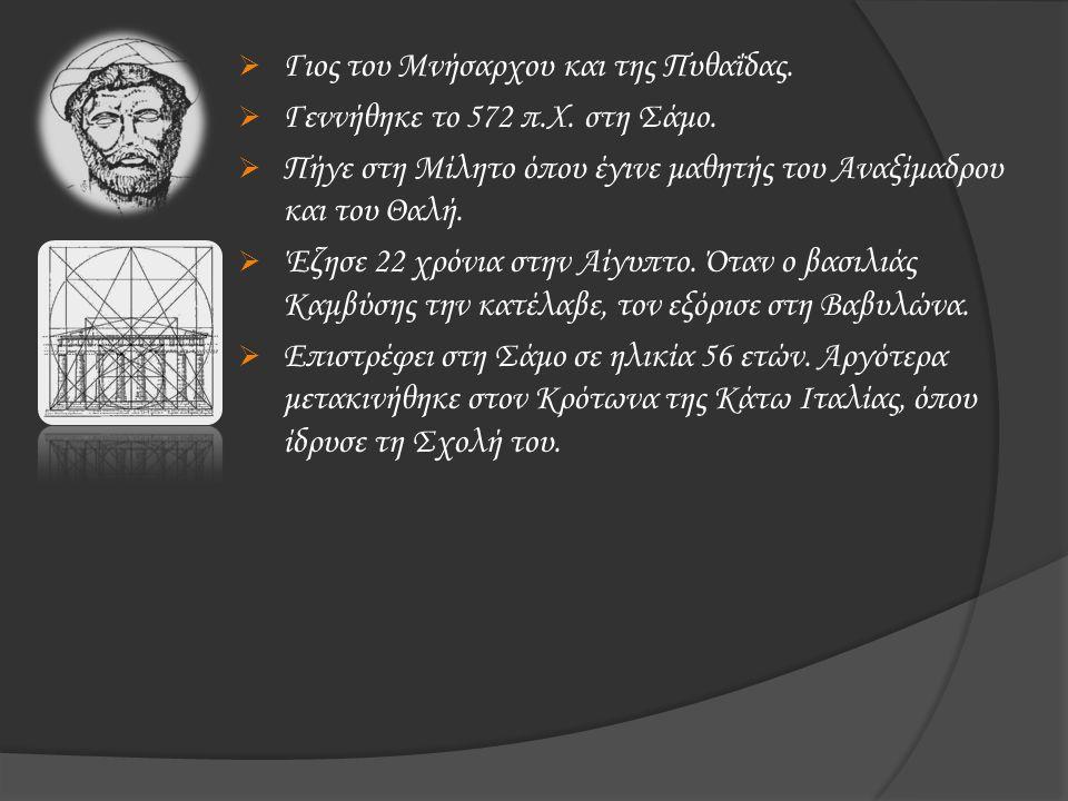 Γιος του Μνήσαρχου και της Πυθαΐδας.