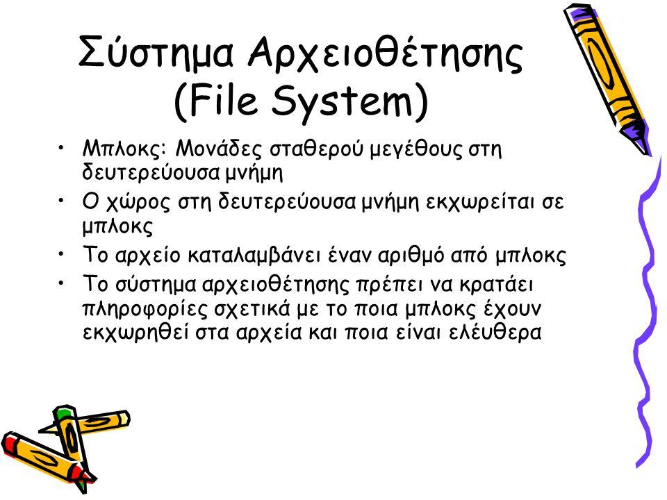 Σύστημα Αρχειοθέτησης (File System)