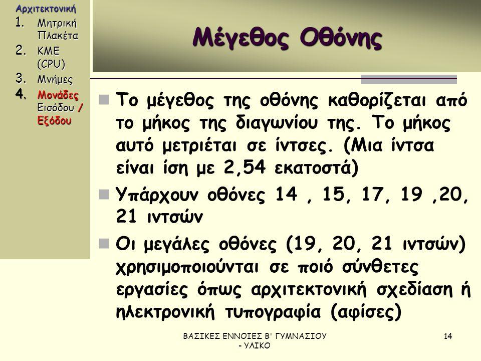ΒΑΣΙΚΕΣ ΕΝΝΟΙΕΣ Β ΓΥΜΝΑΣΙΟΥ - ΥΛΙΚΟ