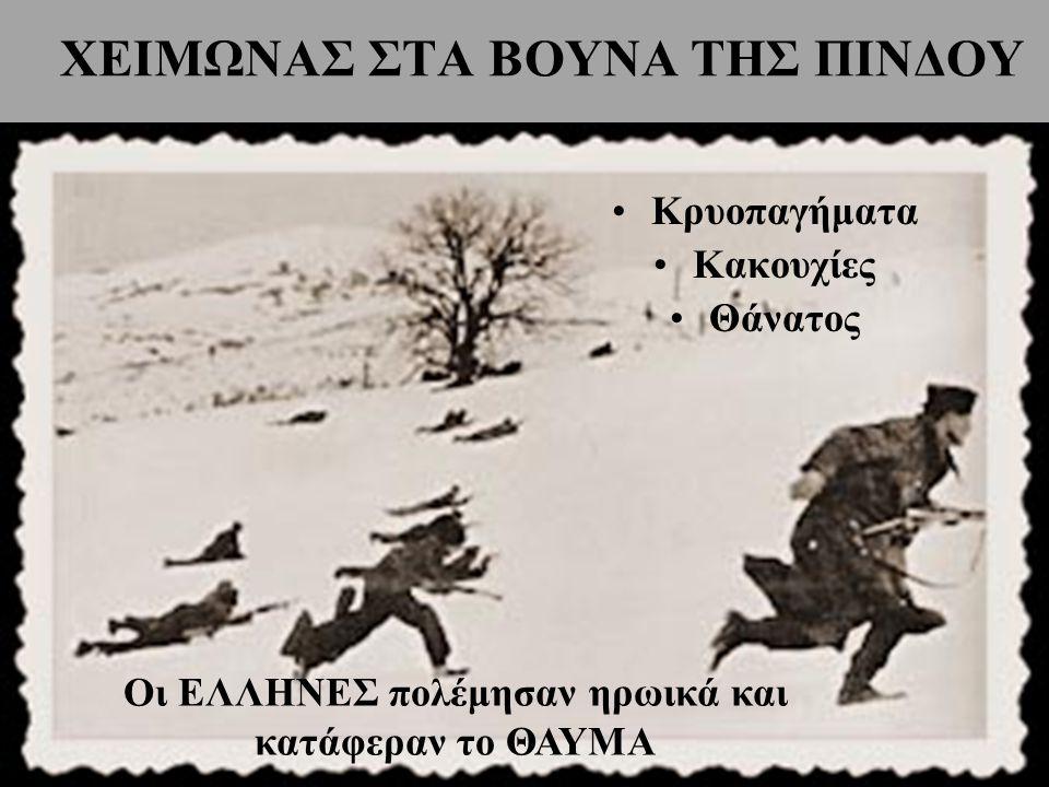 ΧΕΙΜΩΝΑΣ ΣΤΑ ΒΟΥΝΑ ΤΗΣ ΠΙΝΔΟΥ