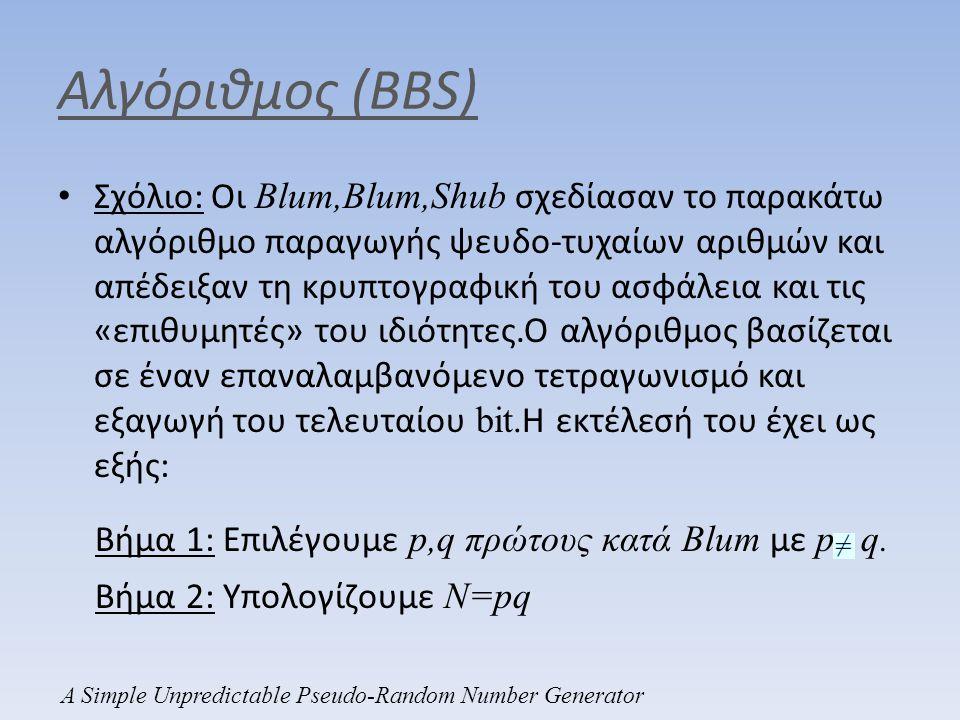 Αλγόριθμος (BBS)