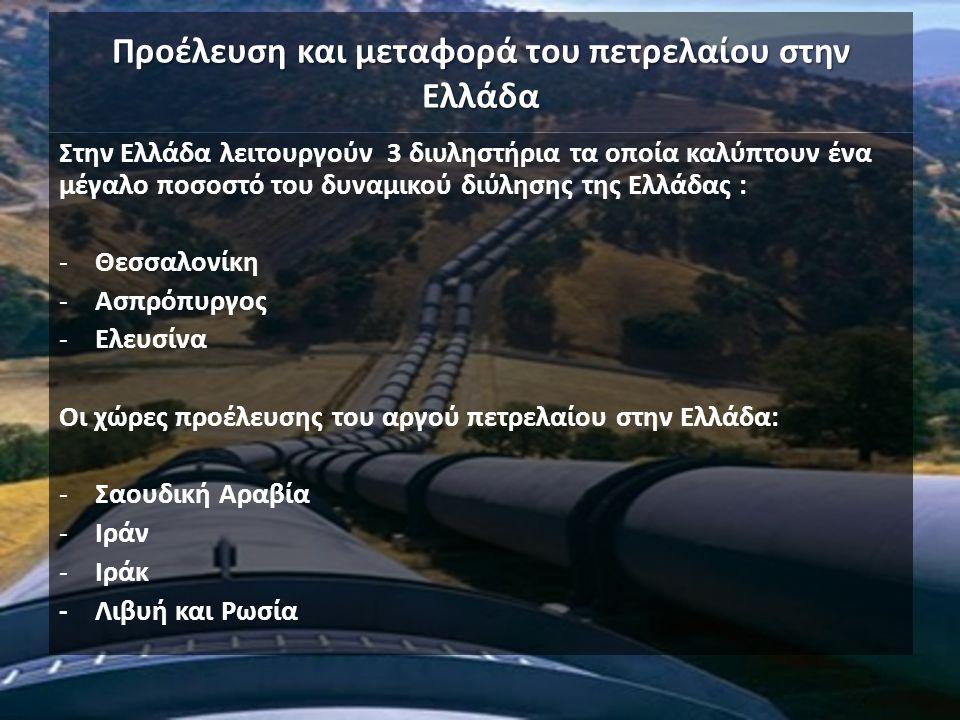 Προέλευση και μεταφορά του πετρελαίου στην Ελλάδα