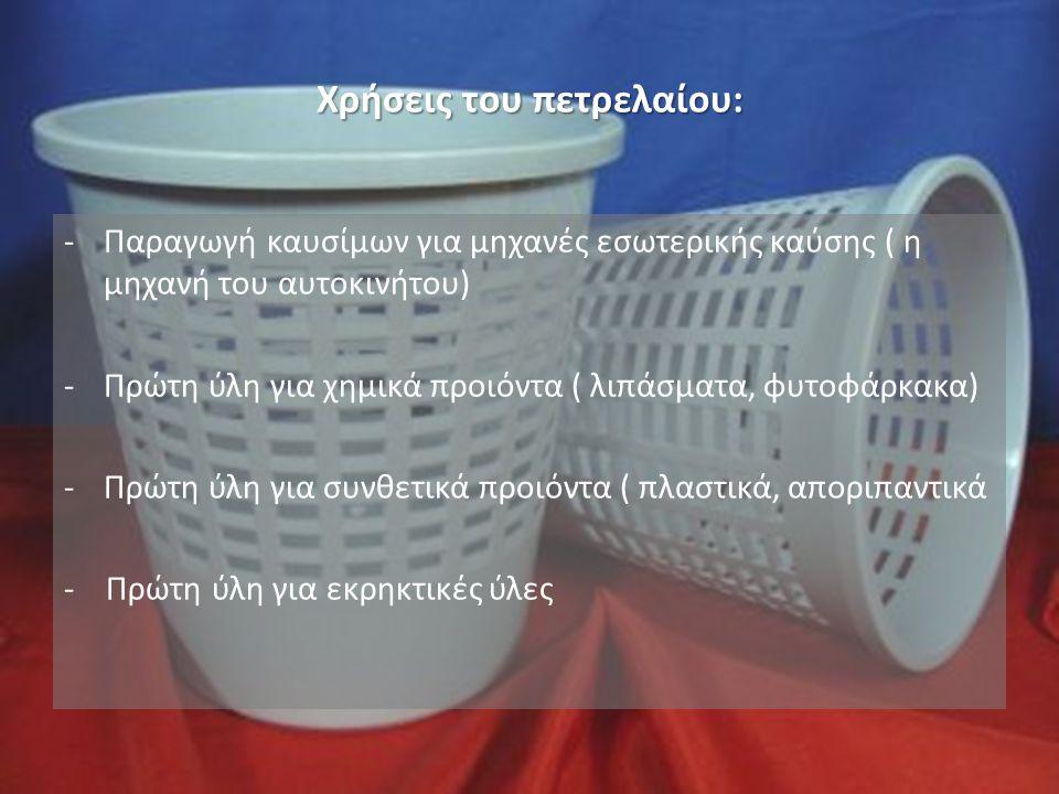Χρήσεις του πετρελαίου: