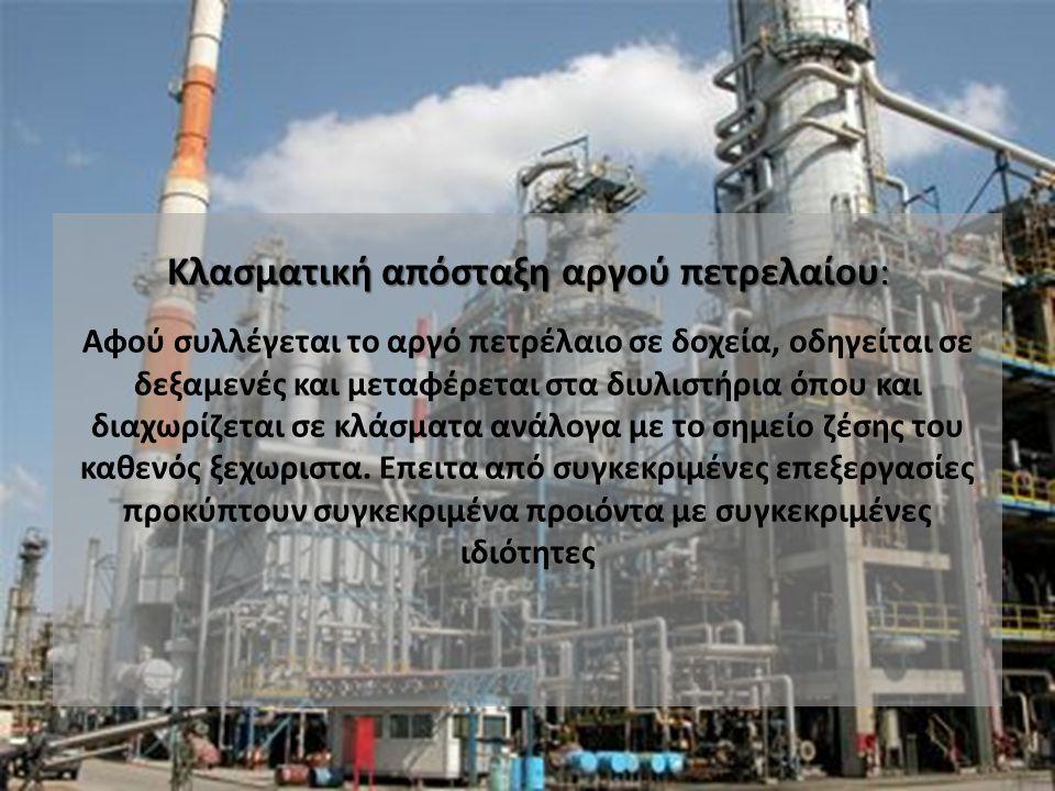 Κλασματική απόσταξη αργού πετρελαίου: