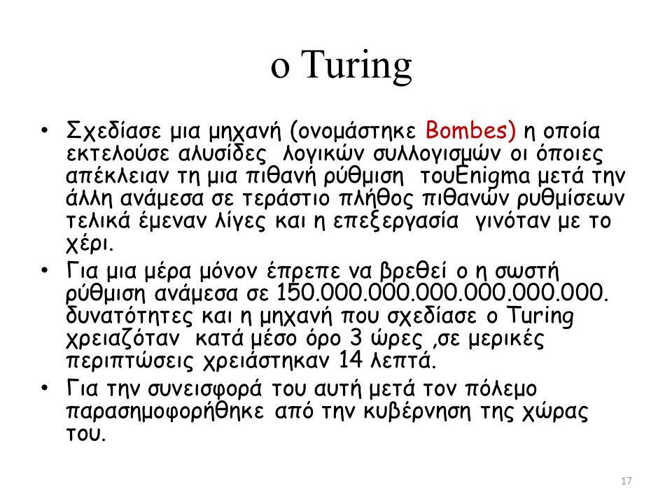 o Τuring