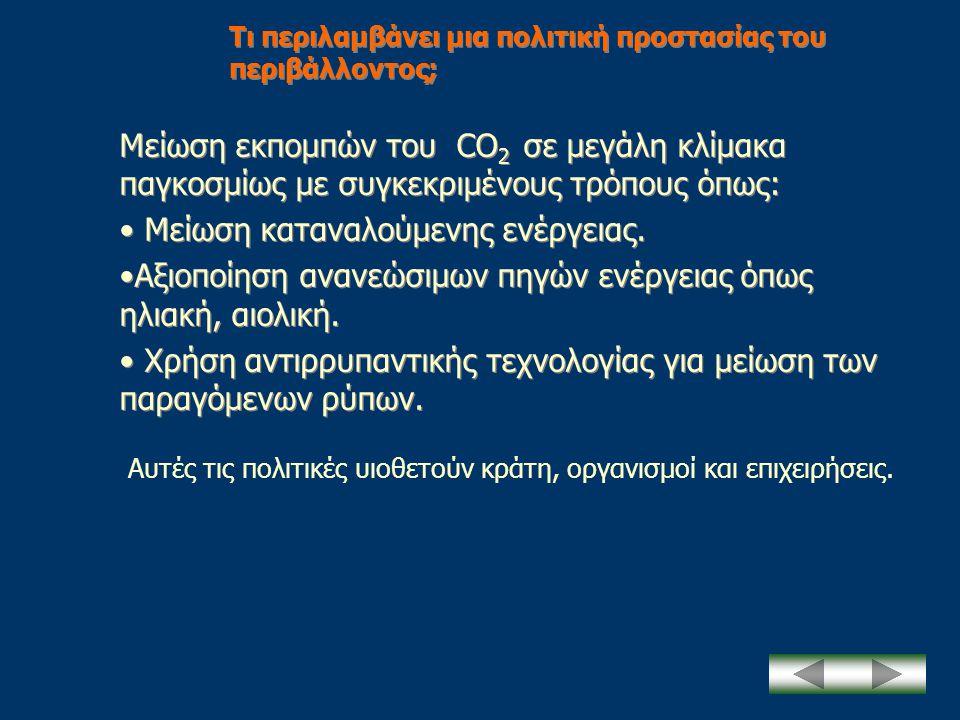 Τι περιλαμβάνει μια πολιτική προστασίας του περιβάλλοντος;