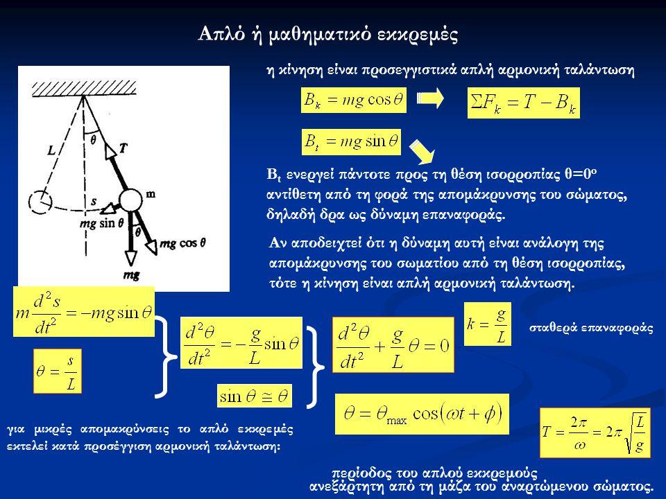 Απλό ή μαθηματικό εκκρεμές