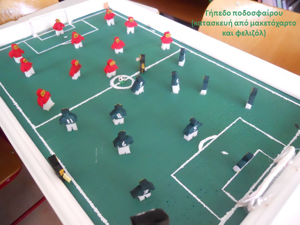 Γήπεδο ποδοσφαίρου (κατασκευή από μακετόχαρτο και φελιζόλ)