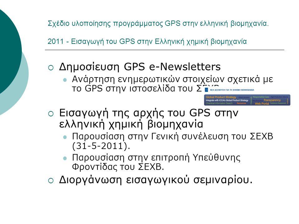 Δημοσίευση GPS e-Newsletters