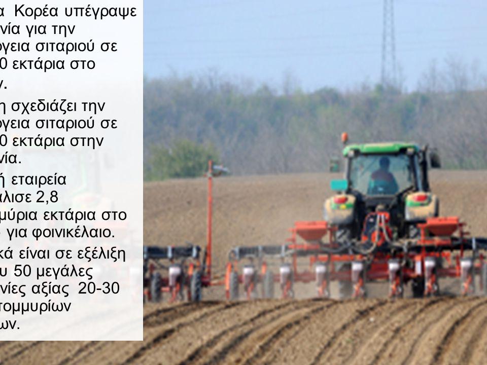 Μια νέα επινόηση: Καλλιέργειες στο εξωτερικό