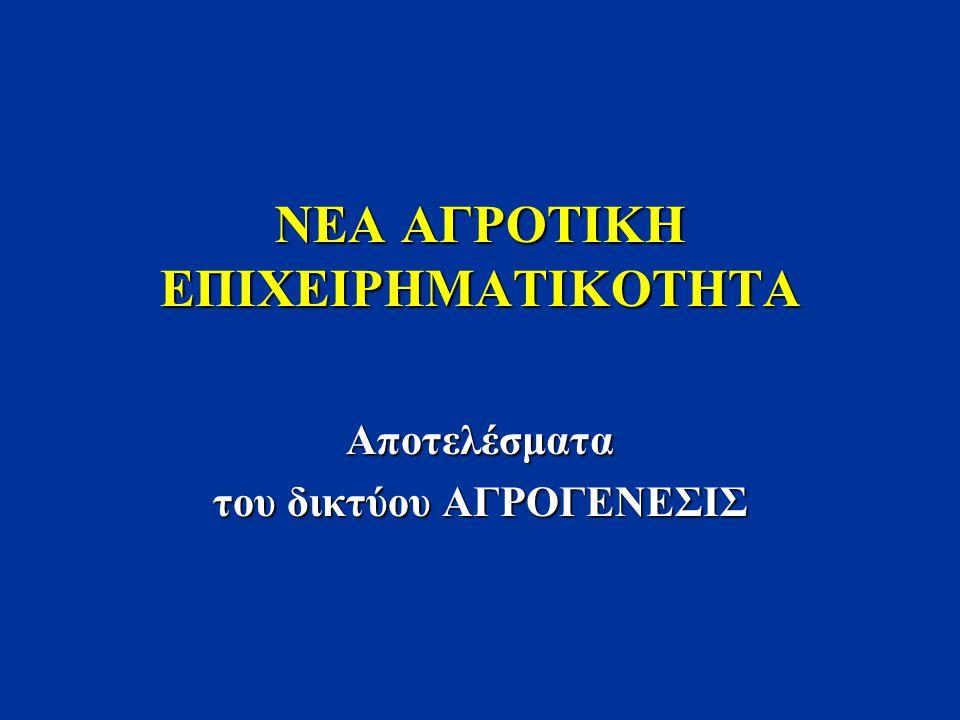 NEA ΑΓΡΟΤΙΚΗ ΕΠΙΧΕΙΡΗΜΑΤΙΚΟΤΗΤΑ