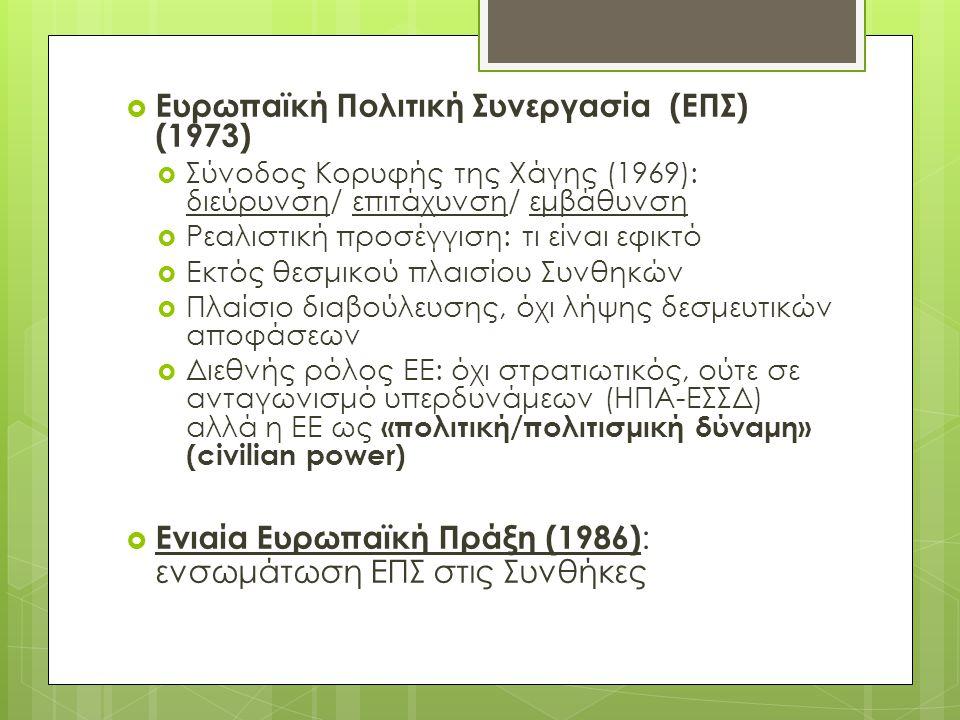 Ευρωπαϊκή Πολιτική Συνεργασία (ΕΠΣ) (1973)