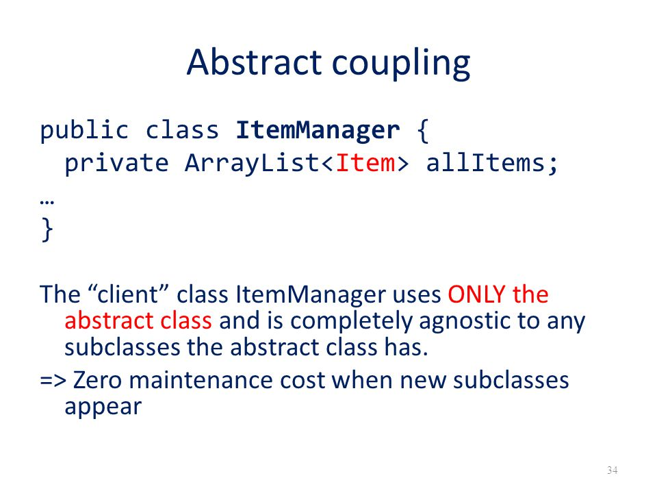 Abstract coupling