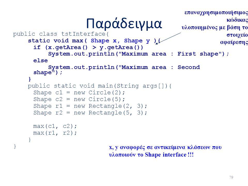 Παράδειγμα επαναχρησιμοποιήσιμος κώδικας