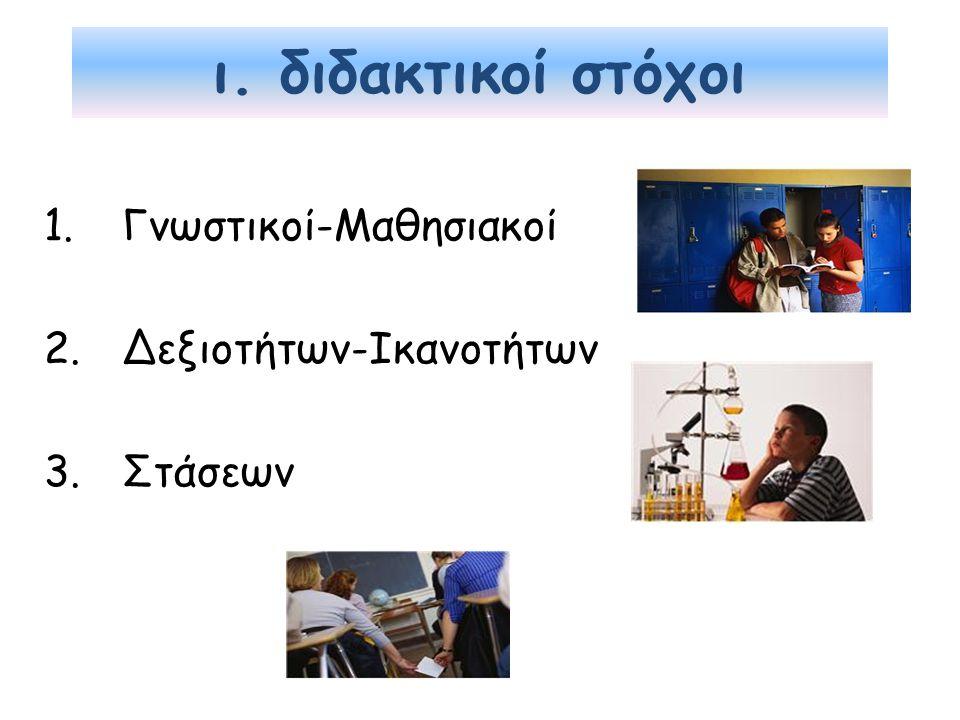 Γνωστικοί-Μαθησιακοί Δεξιοτήτων-Ικανοτήτων Στάσεων