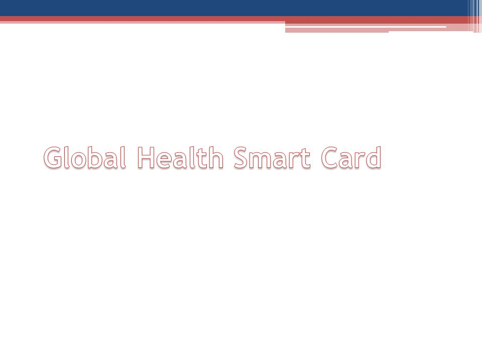 Global Health Smart Card