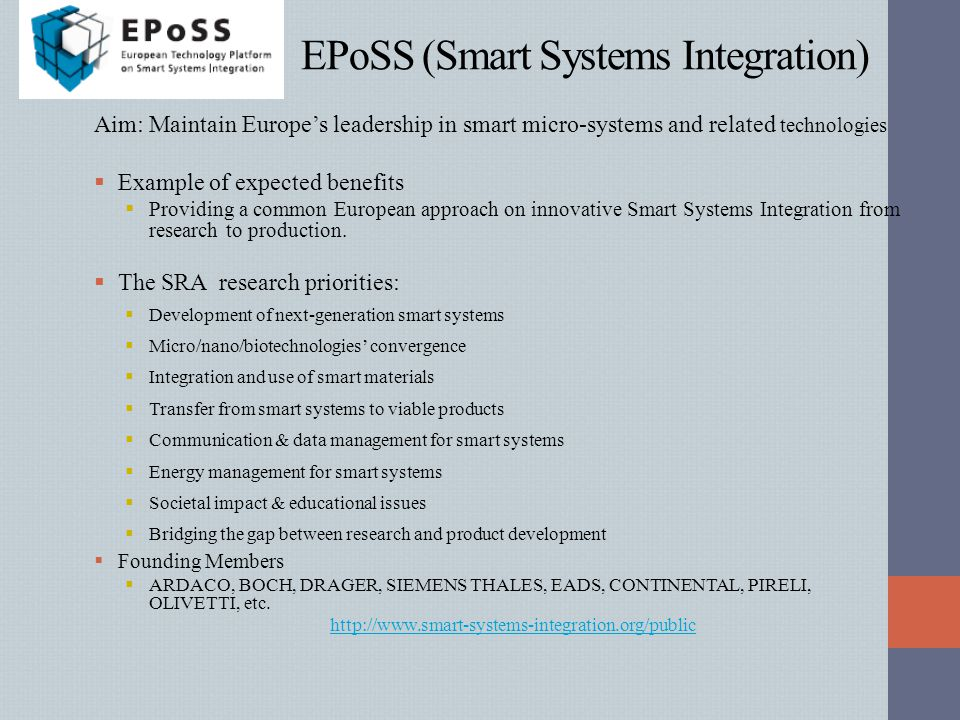 EPoSS (Smart Systems Integration)