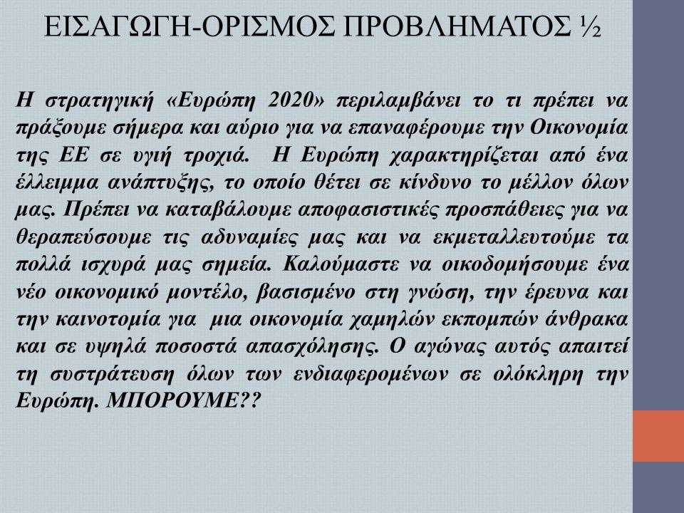 ΕΙΣΑΓΩΓΗ-ΟΡΙΣΜΟΣ ΠΡΟΒΛΗΜΑΤΟΣ ½