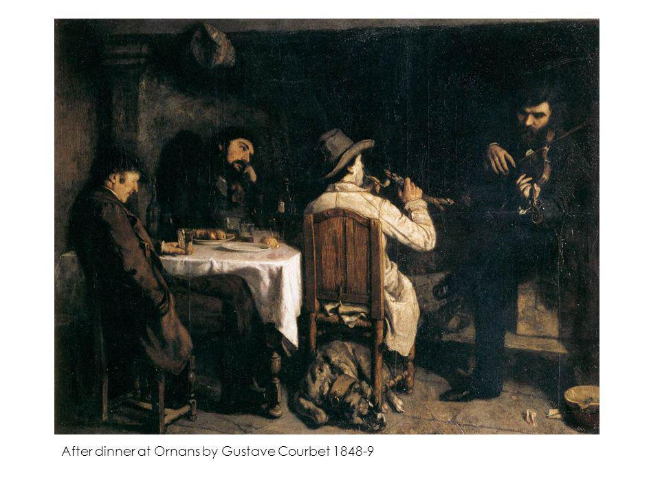 After dinner at Ornans by Gustave Courbet 1848-9