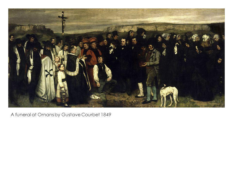 A funeral at Ornans by Gustave Courbet 1849