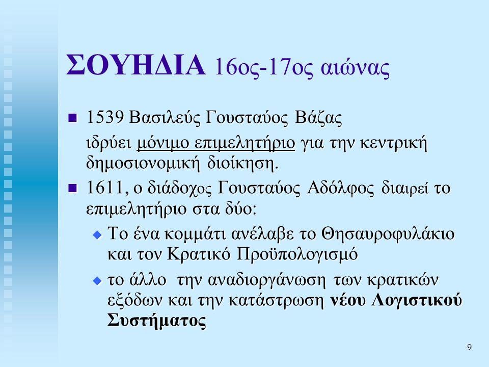 ΣΟΥΗΔΙΑ 16ος-17ος αιώνας 1539 Βασιλεύς Γουσταύος Βάζας