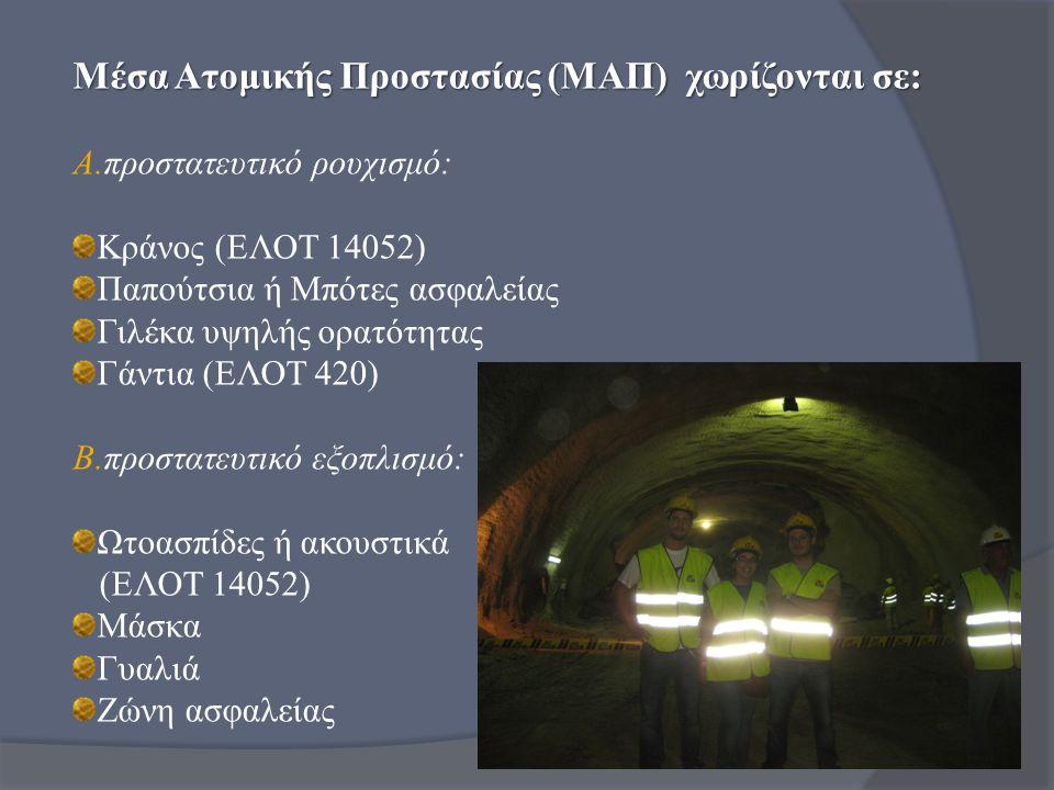 Μέσα Ατομικής Προστασίας (ΜΑΠ) χωρίζονται σε: