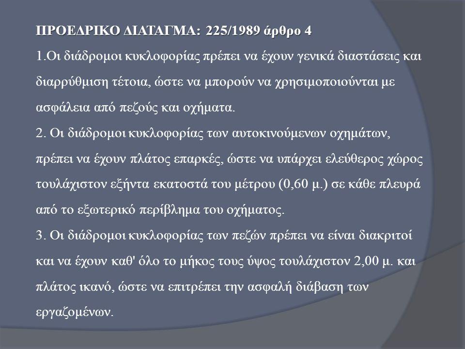 ΠΡΟΕΔΡΙΚΟ ΔΙΑΤΑΓΜΑ: 225/1989 άρθρο 4