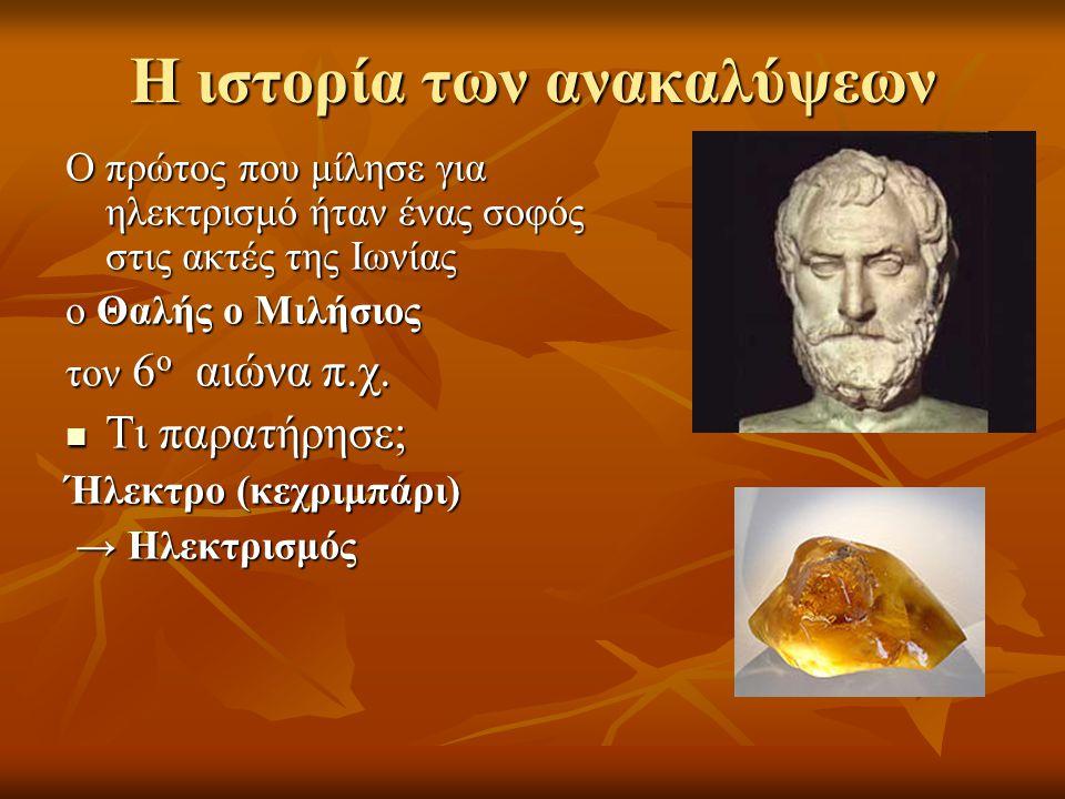Η ιστορία των ανακαλύψεων