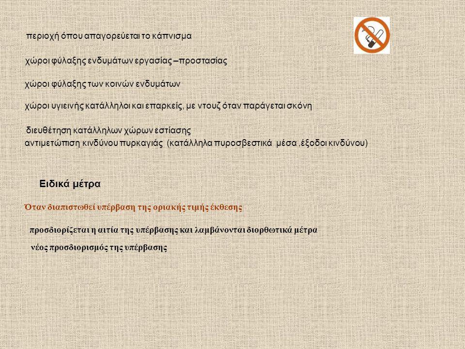 περιοχή όπου απαγορεύεται το κάπνισμα