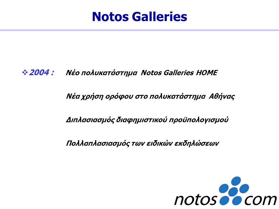 Notos Galleries 2004 : Νέο πολυκατάστημα Notos Galleries HOME