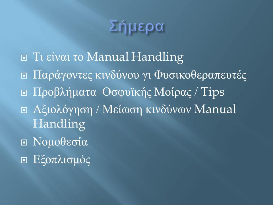 Σήμερα Τι είναι το Manual Handling