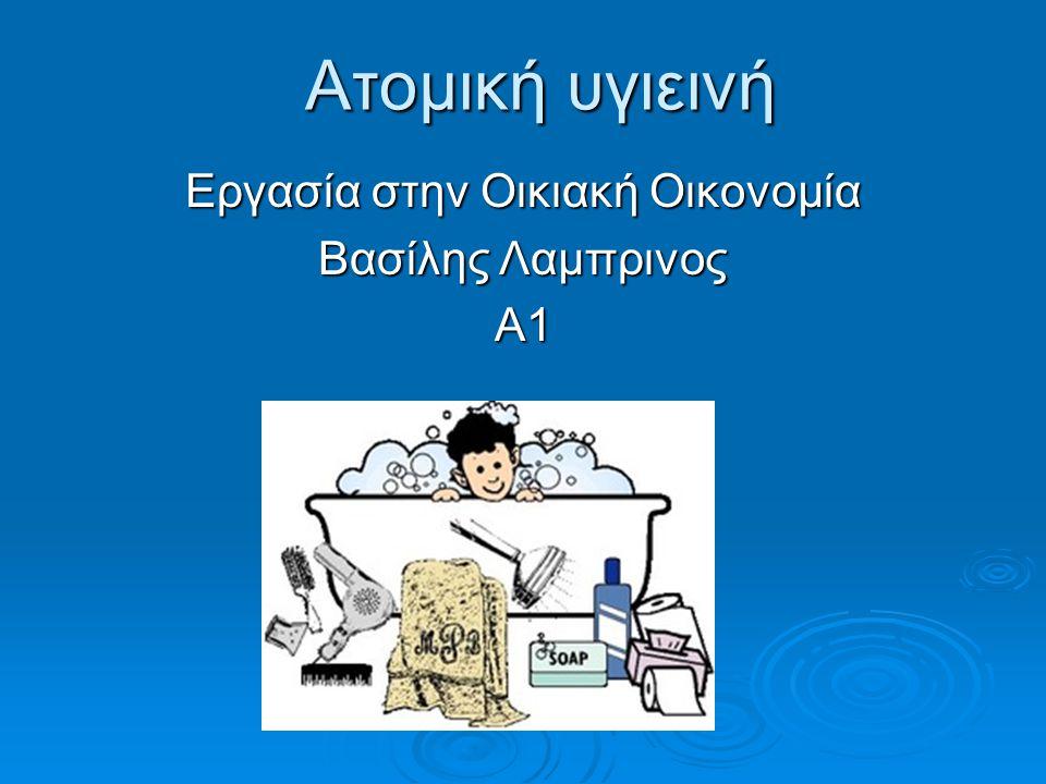 Εργασία στην Οικιακή Οικονομία Βασίλης Λαμπρινος Α1