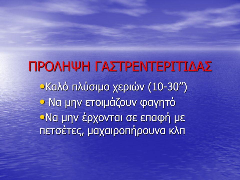 ΠΡΟΛΗΨΗ ΓΑΣΤΡΕΝΤΕΡΙΤΙΔΑΣ
