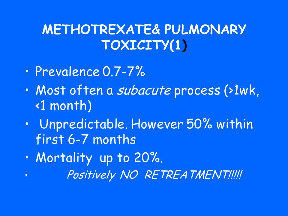 METHOTREXATE& PULMONARY TOXICITY(1)