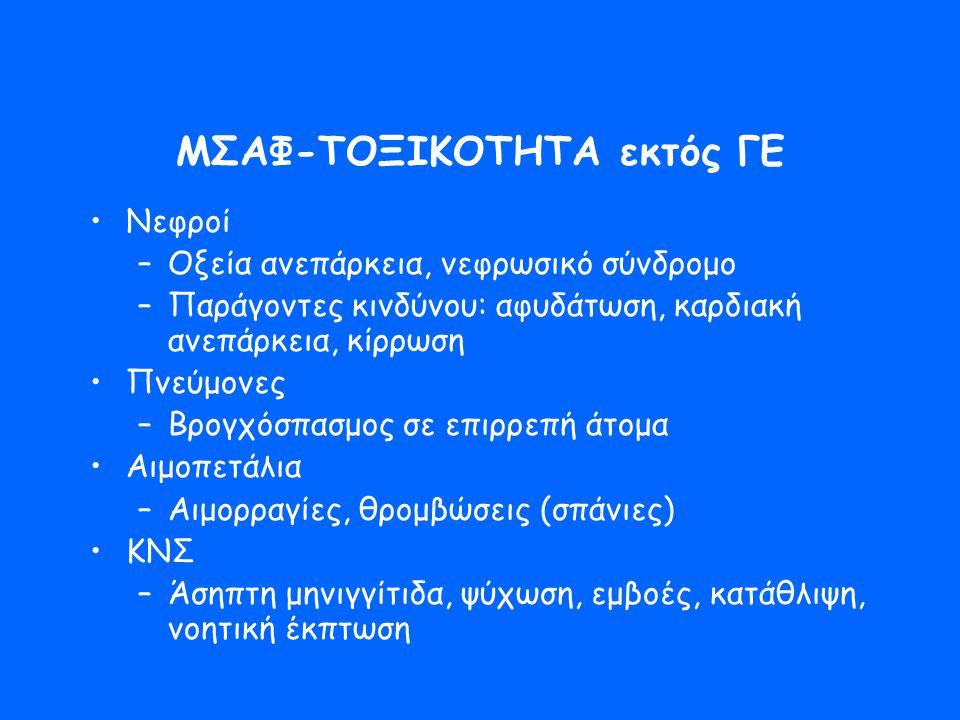 ΜΣΑΦ-ΤΟΞΙΚΟΤΗΤΑ εκτός ΓΕ
