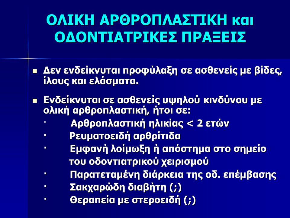 ΟΛΙΚΗ ΑΡΘΡΟΠΛΑΣΤΙΚΗ και ΟΔΟΝΤΙΑΤΡΙΚΕΣ ΠΡΑΞΕΙΣ