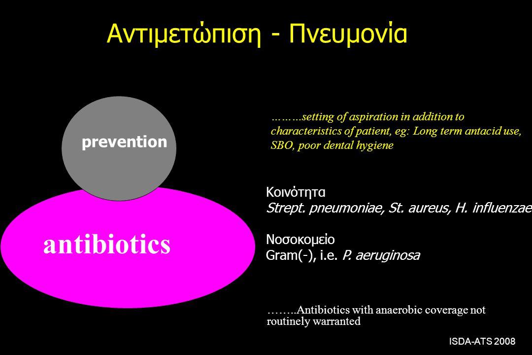 Αντιμετώπιση - Πνευμονία