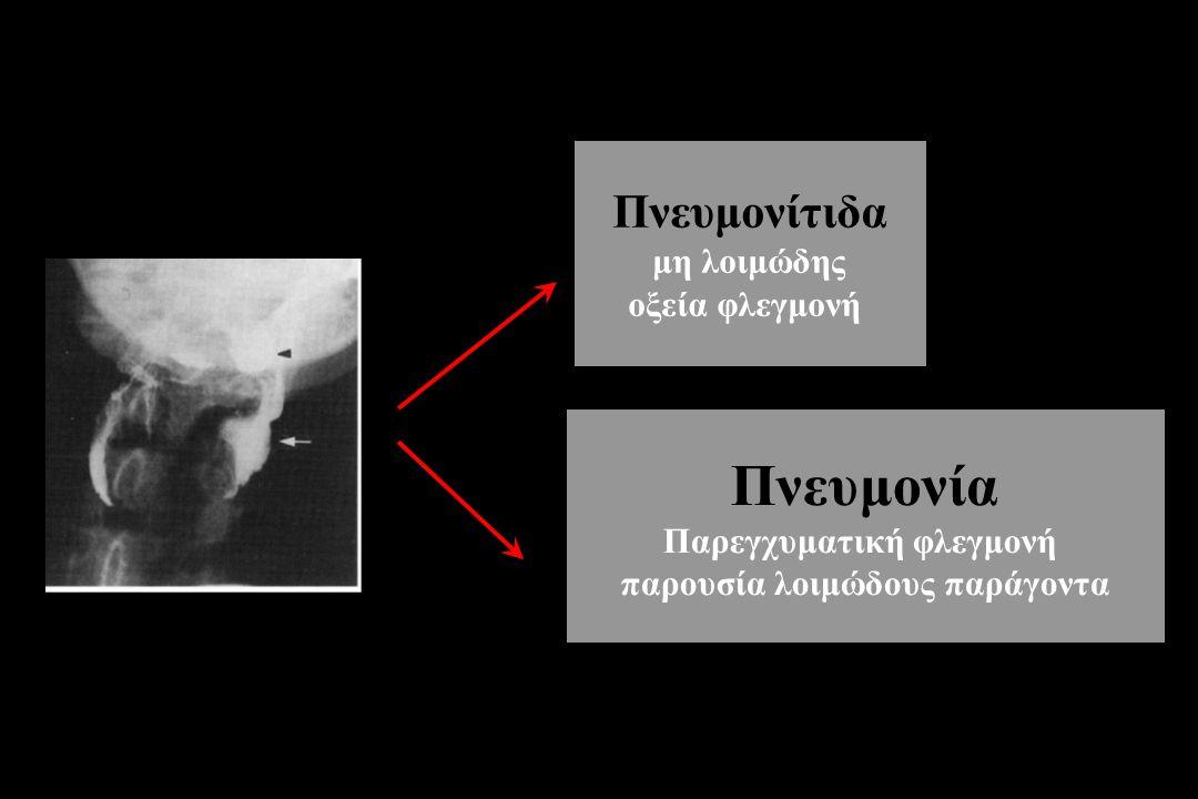Παρεγχυματική φλεγμονή παρουσία λοιμώδους παράγοντα