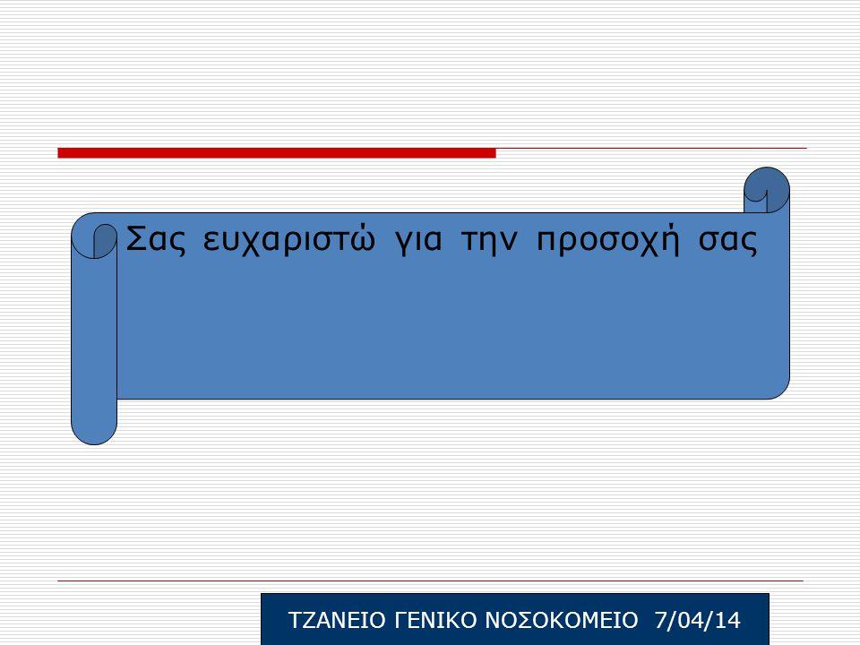 ΤΖΑΝΕΙΟ ΓΕΝΙΚΟ ΝΟΣΟΚΟΜΕΙΟ 7/04/14