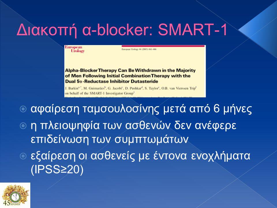 Διακοπή α-blocker: SMART-1