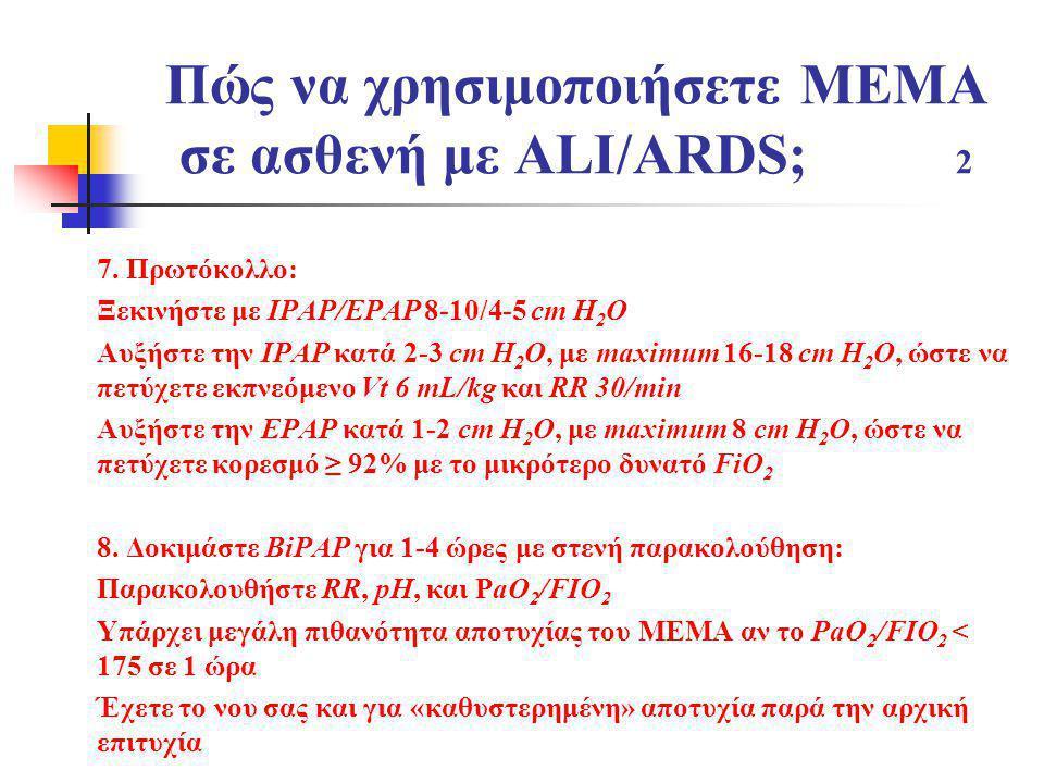 Πώς να χρησιμοποιήσετε ΜΕΜΑ σε ασθενή με ALI/ARDS; 2