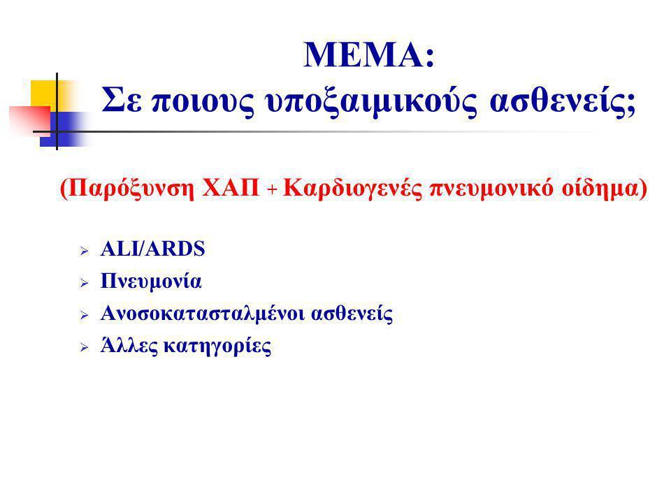 ΜΕΜA: Σε ποιους υποξαιμικούς ασθενείς;