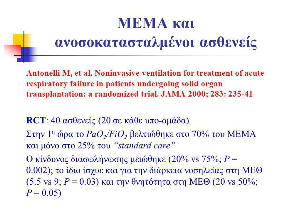 ΜΕΜΑ και ανοσοκατασταλμένοι ασθενείς