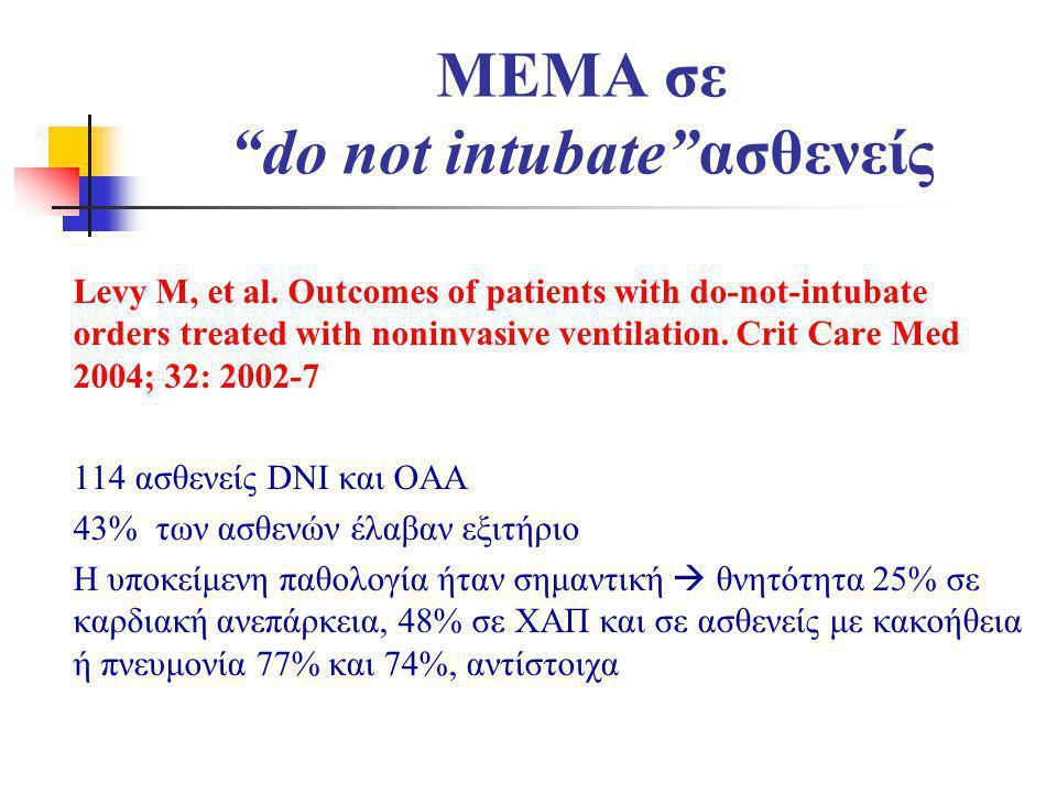 MEMA σε do not intubate ασθενείς