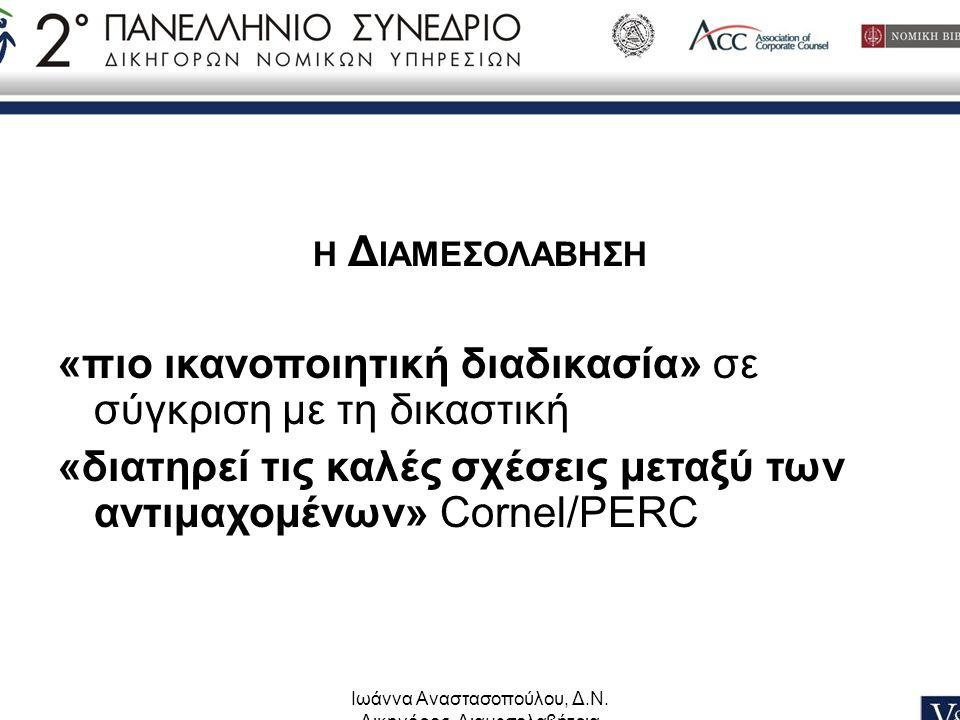 Ιωάννα Αναστασοπούλου, Δ.Ν. Δικηγόρος, Διαμεσολαβήτρια