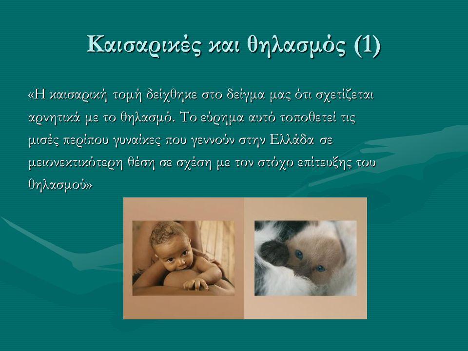 Καισαρικές και θηλασμός (1)
