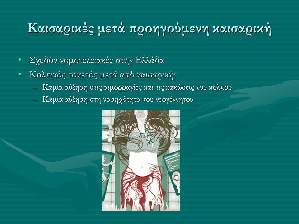 Καισαρικές μετά προηγούμενη καισαρική