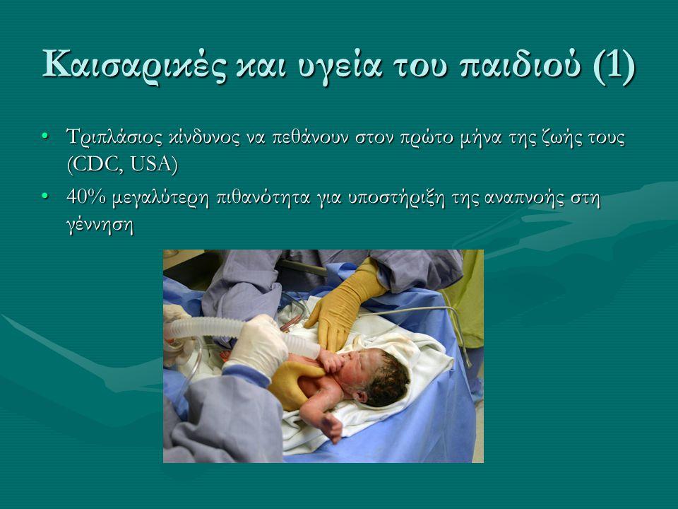 Καισαρικές και υγεία του παιδιού (1)